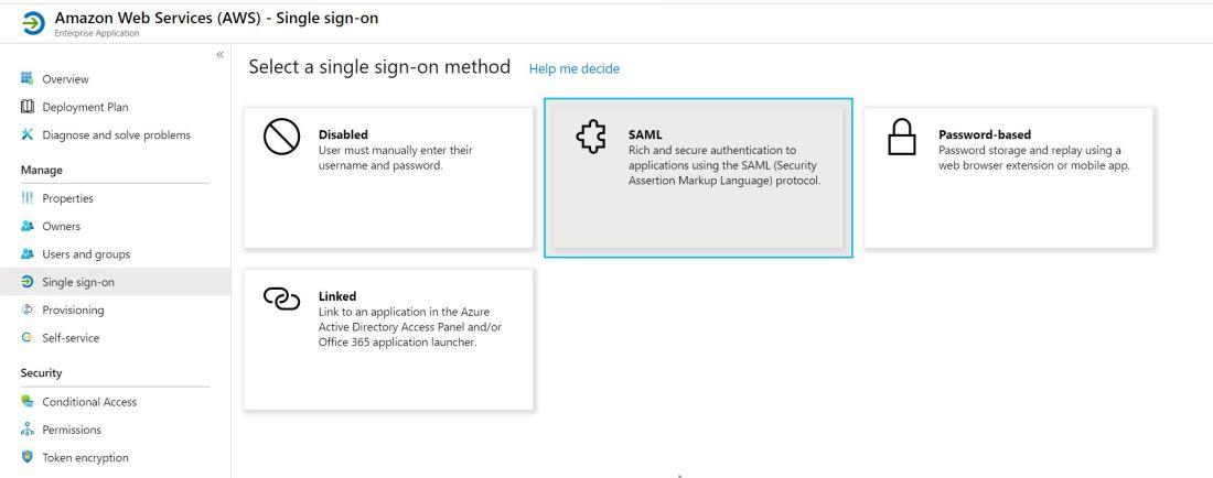 2020-02-04 21_01_44-Amazon Web Services (AWS) - Single sign-on - Azure Active Directory admin center
