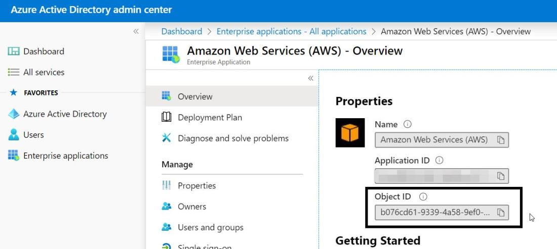 2020-02-04 21_50_55-Amazon Web Services (AWS) - Overview - Azure Active Directory admin center