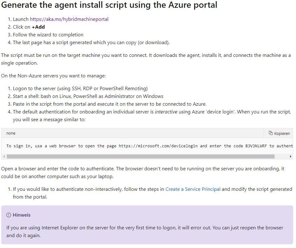 2020-02-10 22_27_43-Schnellstart_ Verbinden von Computern mit Azure mithilfe von Azure Arc für Serve